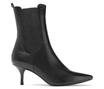 Stevie Tallboy Leather Ankle Boots Black