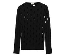 Laser-cut Knitted Sweater Black