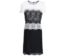Two-tone corded lace mini dress