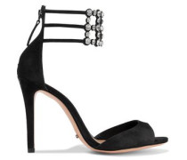 Jenny crystal-embellished suede sandals