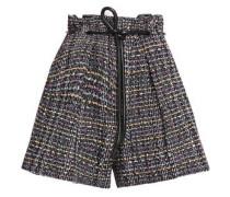 Belted Bouclé-tweed Shorts Black
