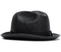 Grosgrain-trimmed Toquilla Straw Panama Hat Black