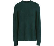 Ribbed merino wool-blend sweater