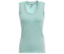 Metallic Stretch-knit Top Mint