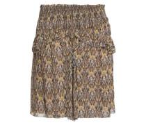Printed crepe de chine mini skirt