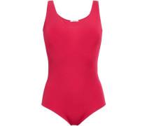 Modal-blend Stretch-jersey Bodysuit Crimson