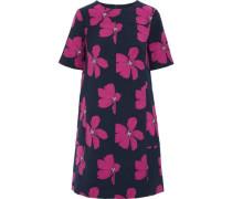Cotton-blend floral-jacquard mini dress