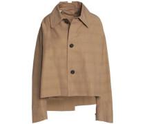 Cropped cotton-blend gabardine jacket