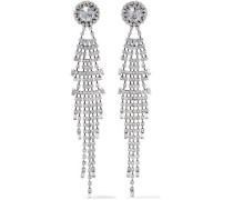 Gale Oxidized Silver-plated Crystal Earrings Silver Size --