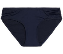 Ruched low-rise bikini briefs