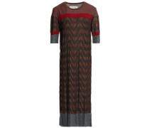 Metallic jacquard-knit midi dress