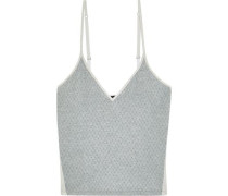 Hustle Checked Micro Modal-blend Jersey Camisole Gray