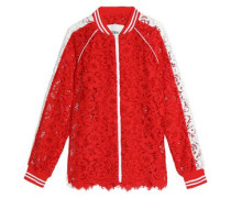 Two-tone corded lace jacket