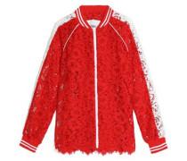 Two-tone cotton guipure lace jacket