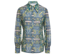 Printed Cotton And Silk-blend Voile Shirt