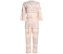 Striped cotton-canvas jumpsuit