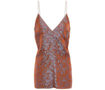 Jacquard Camisole Light Brown Size 0