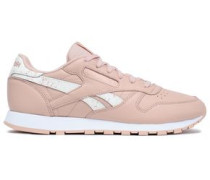 Woman Classic Perforated Leather Sneakers Baby Pink