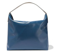 Glossed-leather Tote Cobalt Blue Size --