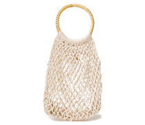 Woman Andie Crocheted Cotton Tote Stone