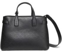 Perforated Leather Shoulder Bag Black Size --