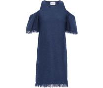 Cold-shoulder Ponte Mini Dress Navy
