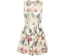 Flared Jacquard Mini Dress Cream