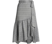 Ruffled Prince of Wales wrap skirt