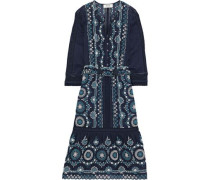 Sofie Broderie Anglaise Cotton Dress Blue Size 0