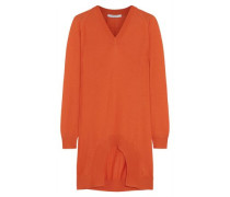 Cutout cashmere, wool and silk-blend sweater
