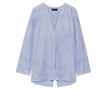 Pinstriped cotton-poplin shirt