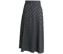 Silk-jacquard Midi Skirt Dark Gray