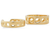Set of two gold-tone rings
