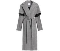 Gingham cotton-blend seersucker coat