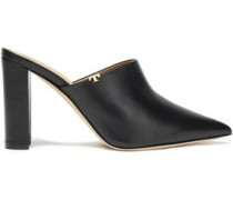 Woman Leather Mules Black