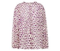 Woman Fil Coupé Leopard-print Cotton Blouse Cream
