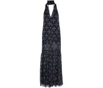 Ruffle-trimmed Printed Silk-chiffon Jumpsuit Black