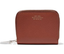 Panama Textured-leather Coin Purse Tan Size --