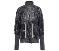Coated Mesh And Shell Jacket Anthracite