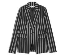 Petra Striped Twill Blazer Black
