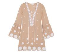 Laure embroidered cotton mini dress