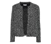 Frayed bouclé-tweed jacket