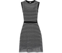 Metallic knitted cotton-blend dress
