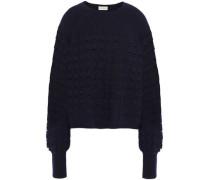 Open-knit Wool-blend Sweater Navy