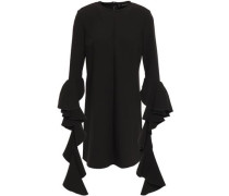 Woman Kilkenny Ruffle-trimmed Crepe Mini Dress Black