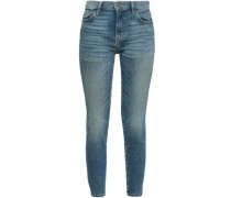 The Stiletto Cropped Faded Mid-rise Skinny Jeans Mid Denim  9