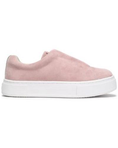 Suede platform slip-on sneakers