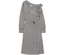 Albany Oversized Striped Twill Midi Dress Black