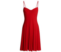 Fluted stretch-jersey dress