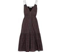 Daphne printed cotton-poplin dress